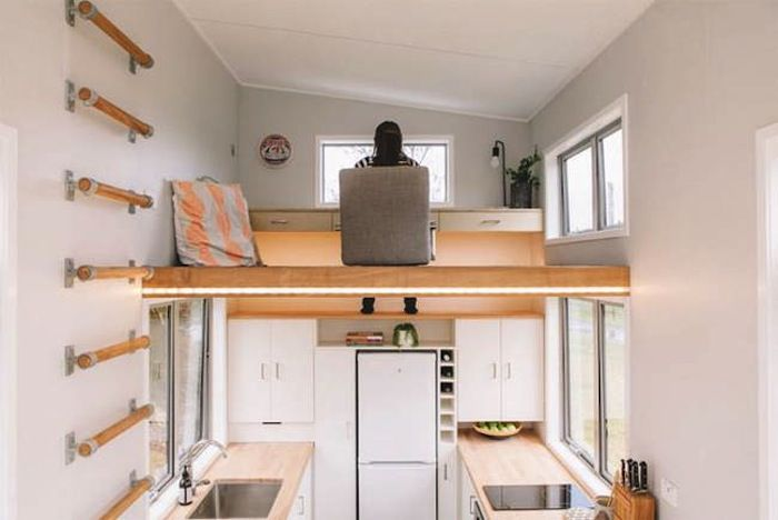Tiny House For Millennials Has A Retractable Staircase