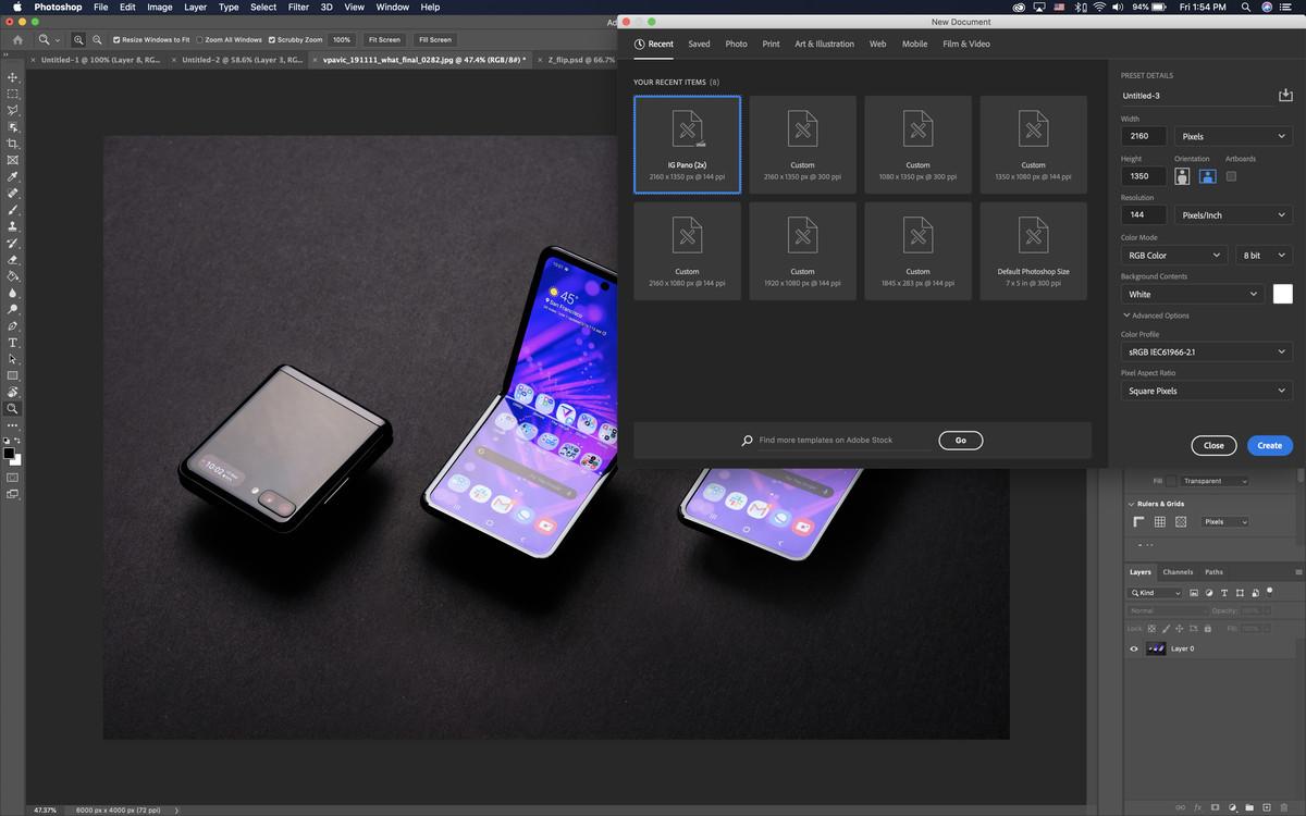 Creating a panorama