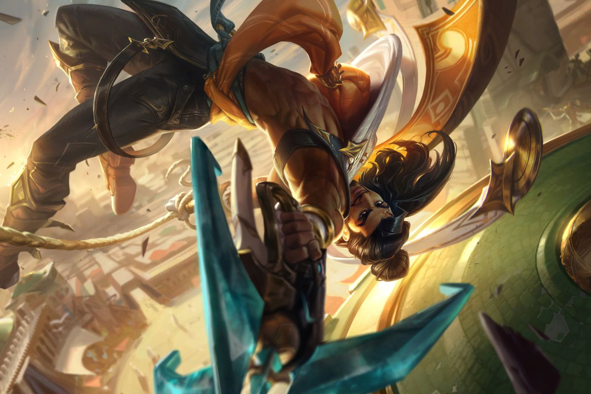 Akshan, a champion from League of Legends' Sentinels of Light event