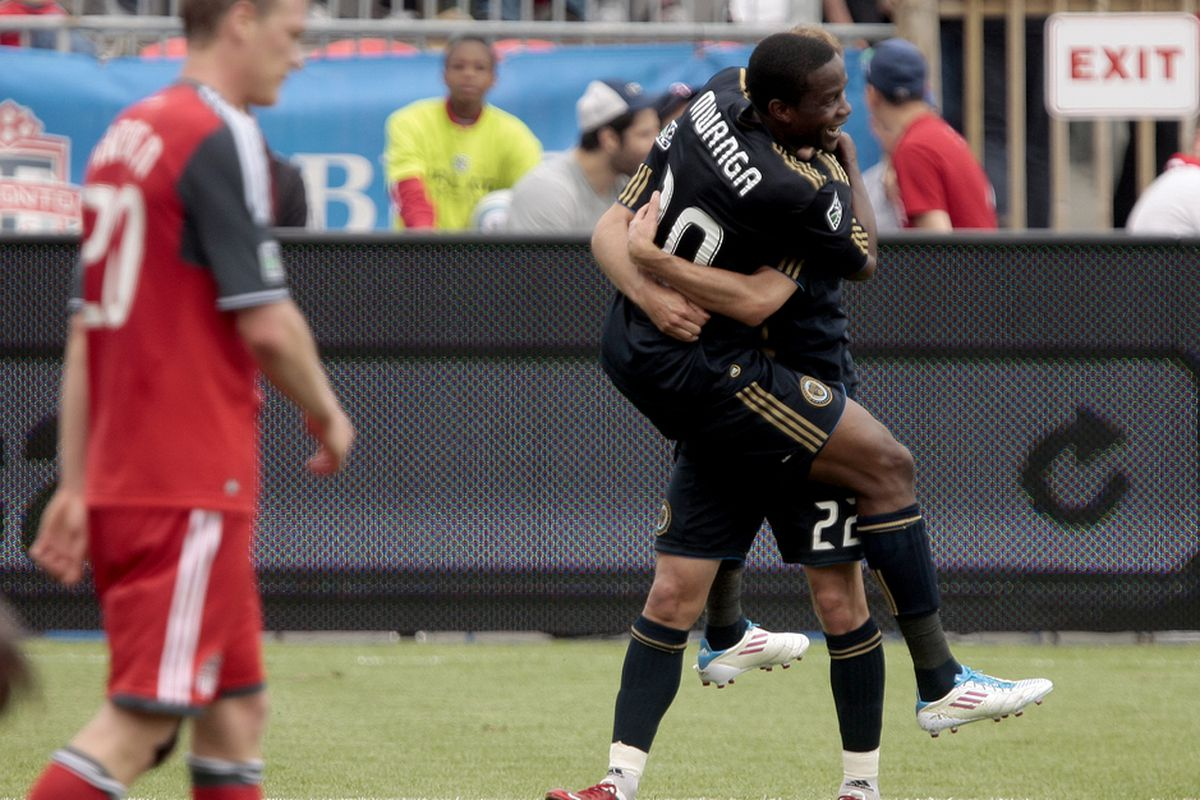 TFC fans will certainly be hoping to see a lot less celebrating this time around.