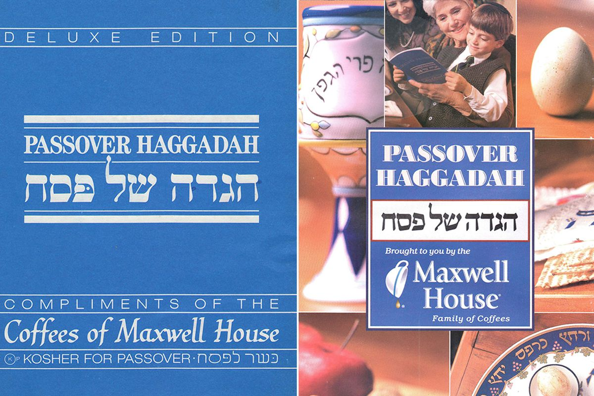 Two versions of the Maxwell House Haggadah