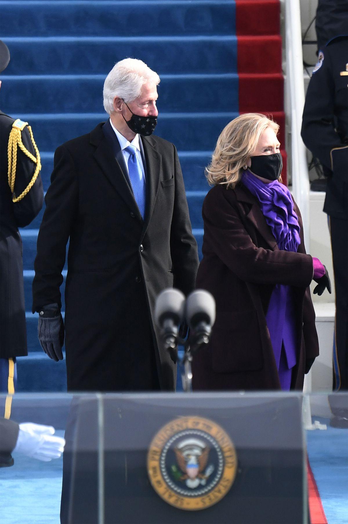 Bill and Hillary Clinton.