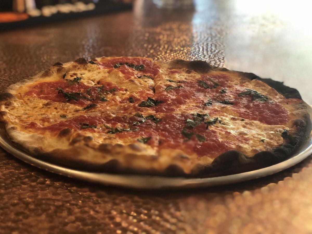 Margherita pizza at Joe & Pat's