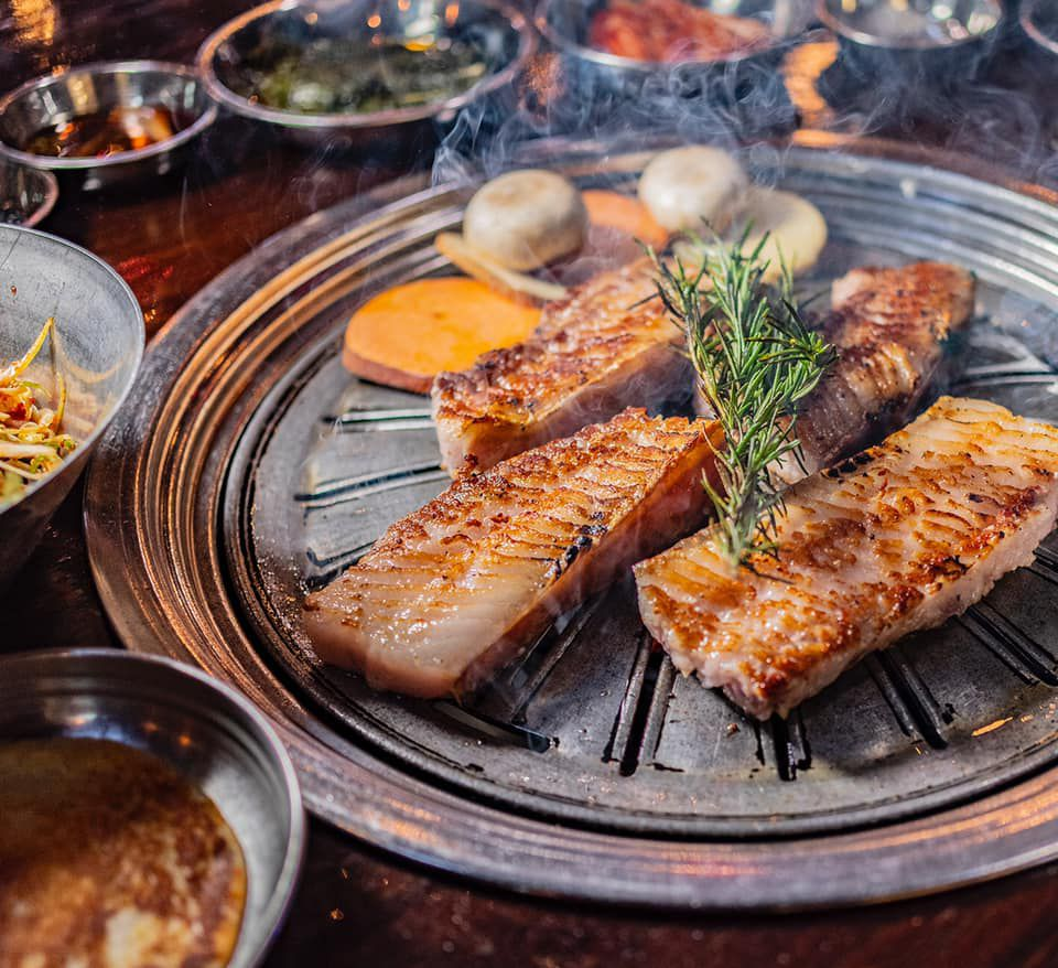 Iberico pork at Hobak Korean BBQ
