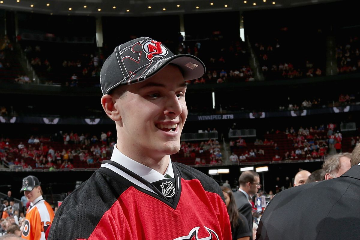 Santini was one of two Devils prospects invited to Lake Placid this week for US Evaluation Camp