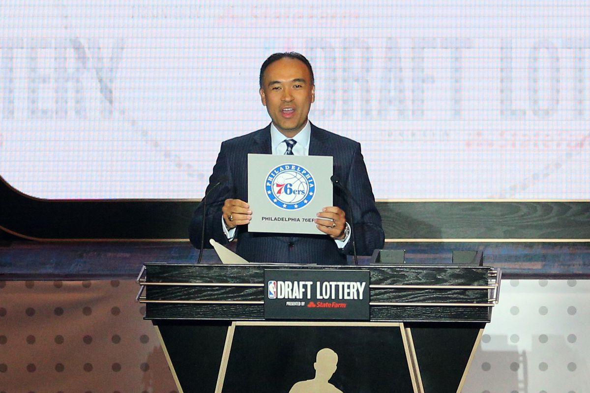 And with the first pick in the NBA Draft, the Philadelphia 76ers select .......