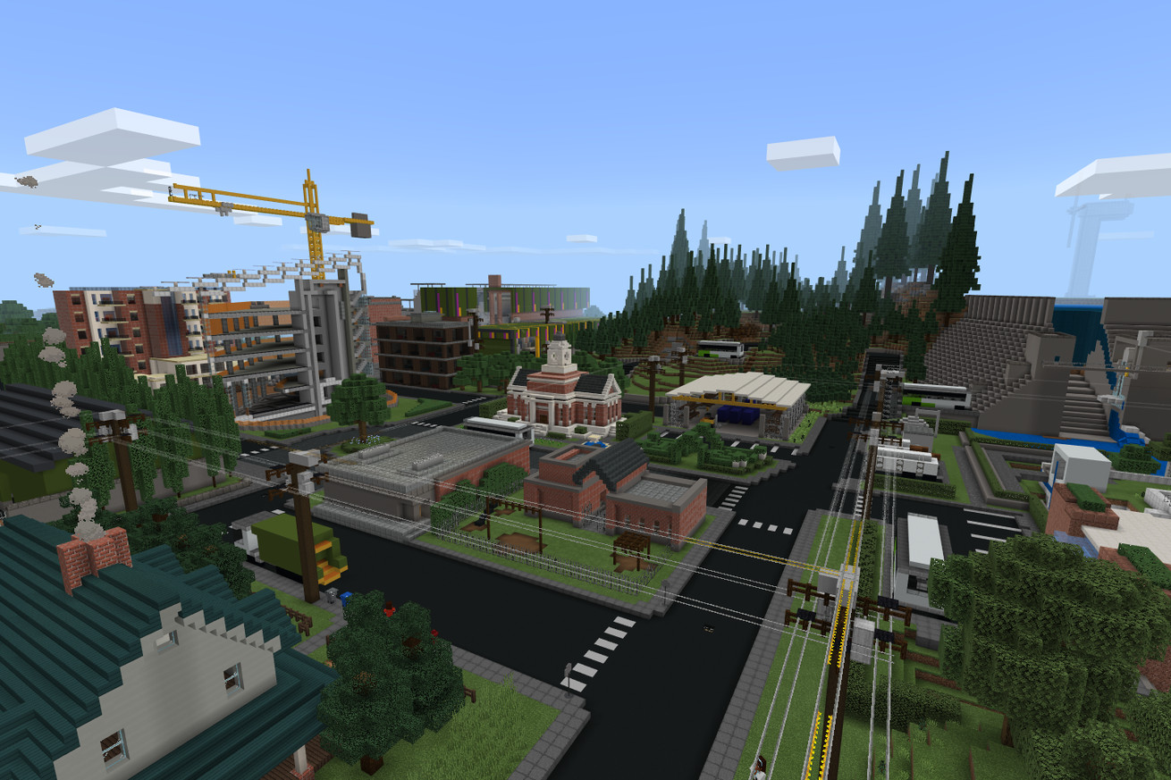Microsoft turned its sustainability report into a Minecraft map