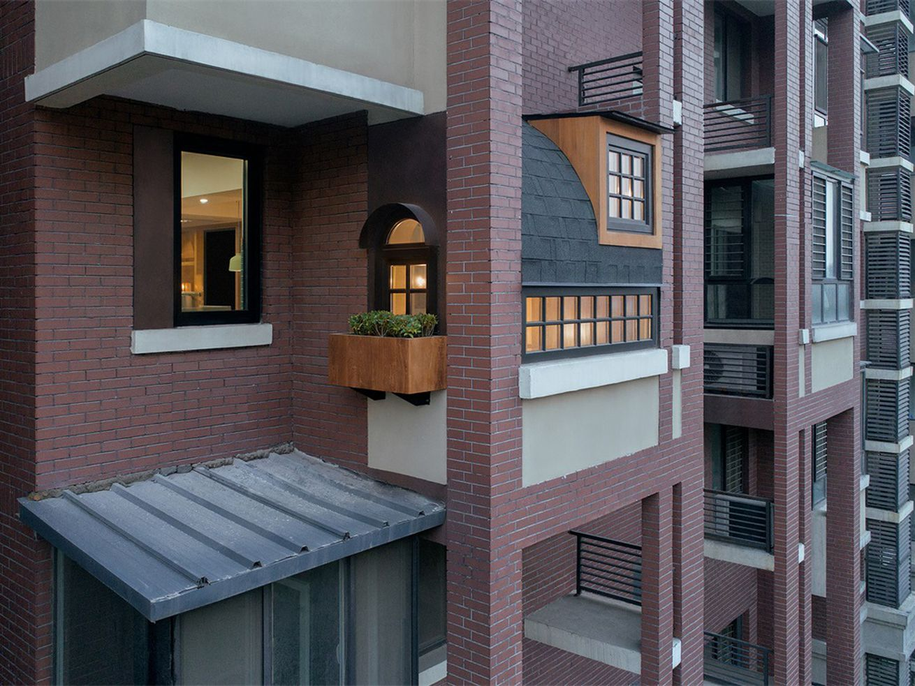 Apartment balcony transformed into a magical Japanese teahouse