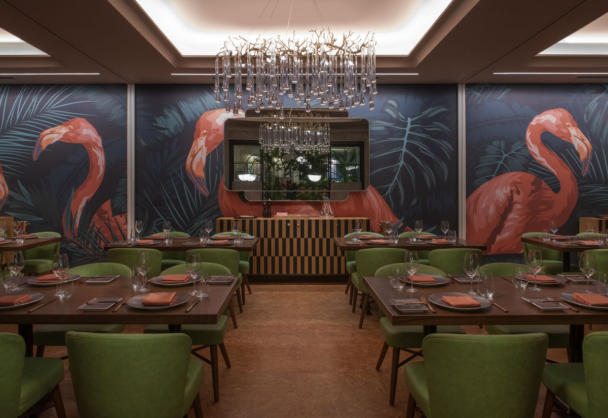 One of the private dining rooms at Bugsy & Meyer's Steakhouse