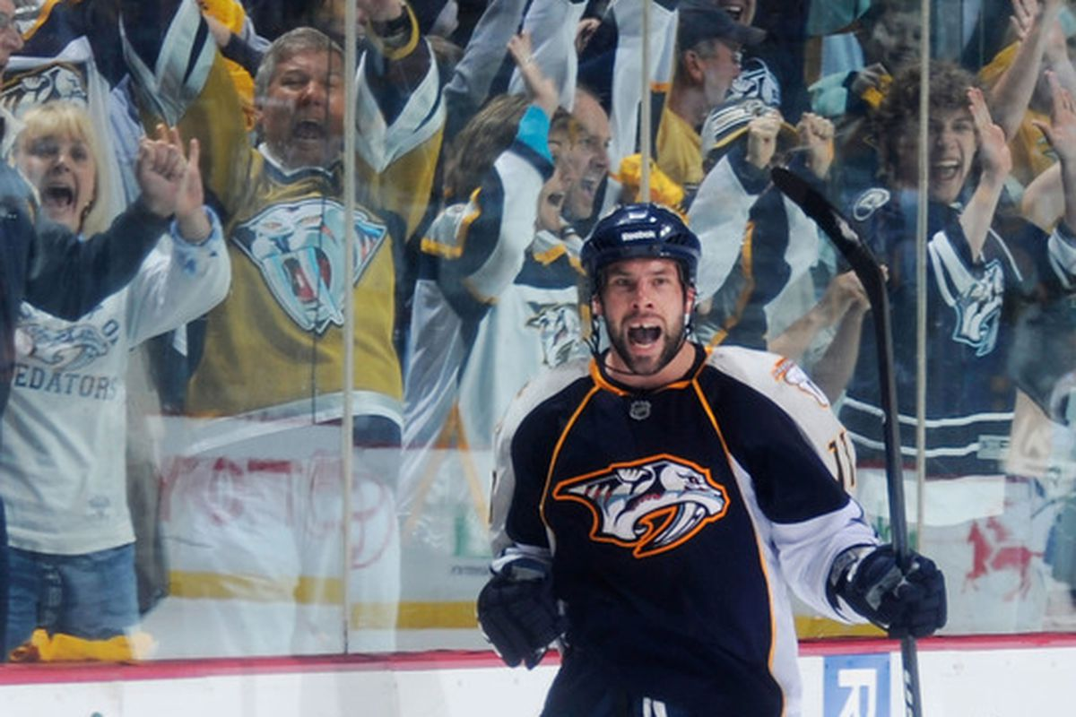 Where were you when Leggy iced the Predators' first-ever playoff series win?