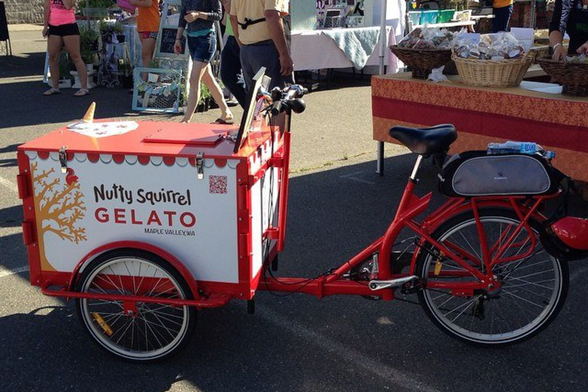 Nutty Squirrel Gelato at the Maple Valley Farmers Market