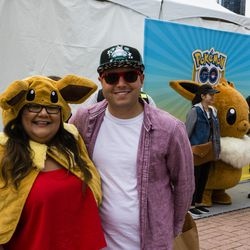 Ashley and Anthony Fisher came from Hawaii to attend the 2019 Pokémon Go Fest in Grant Park, Thursday, June 13th, 2019.