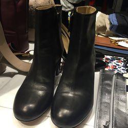 Maison Kitsuné leather boots, $200
