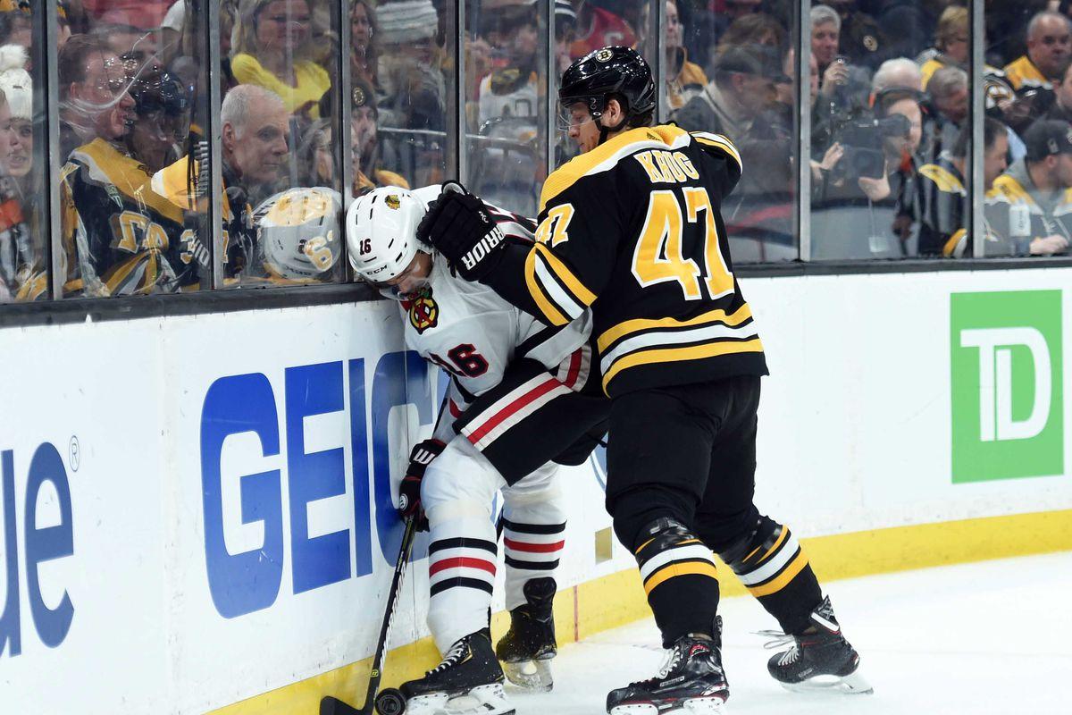 Blackhawks At Bruins 2019 Preseason Score Recap Stats Highlights Second City Hockey