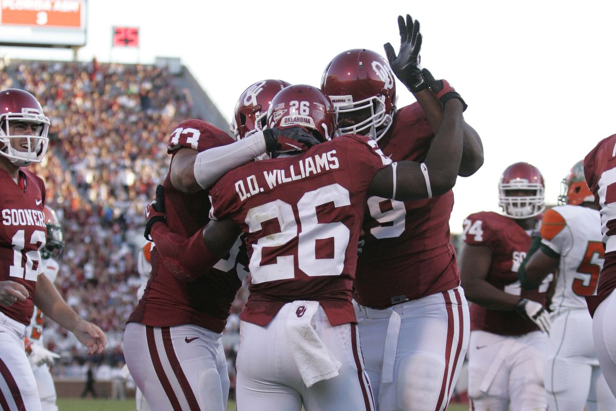 The Sooners are back to being the highest ranked Big XII team in the BlogPoll (Photo by Brett Deering/Getty Images)