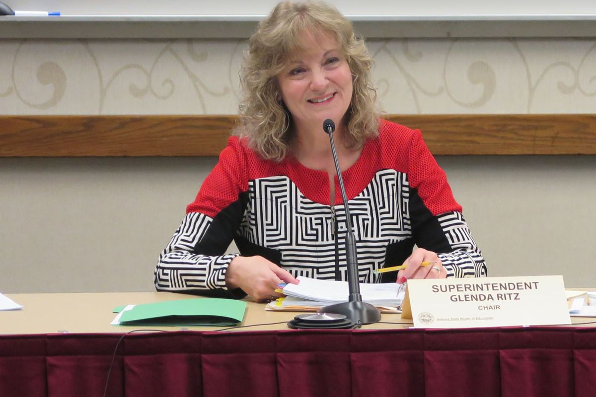 State Superintendent Glenda Ritz at a meeting of the Indiana State Board of Education earlier this month.