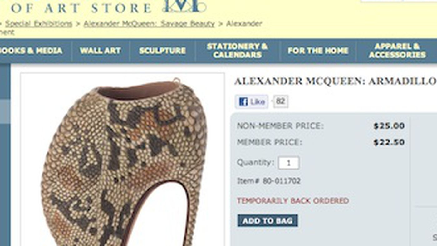 Buy Shoes McQueen 25 Armadillo for Tiny Online Met's the Alexander rwS1rY