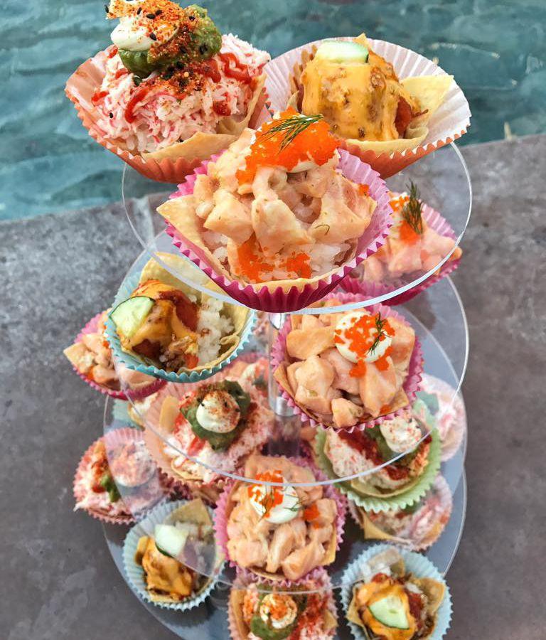 Sushi cupcakes at Jaburritos