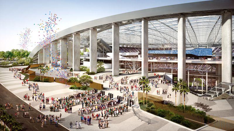 Inglewood NFL stadium plaza