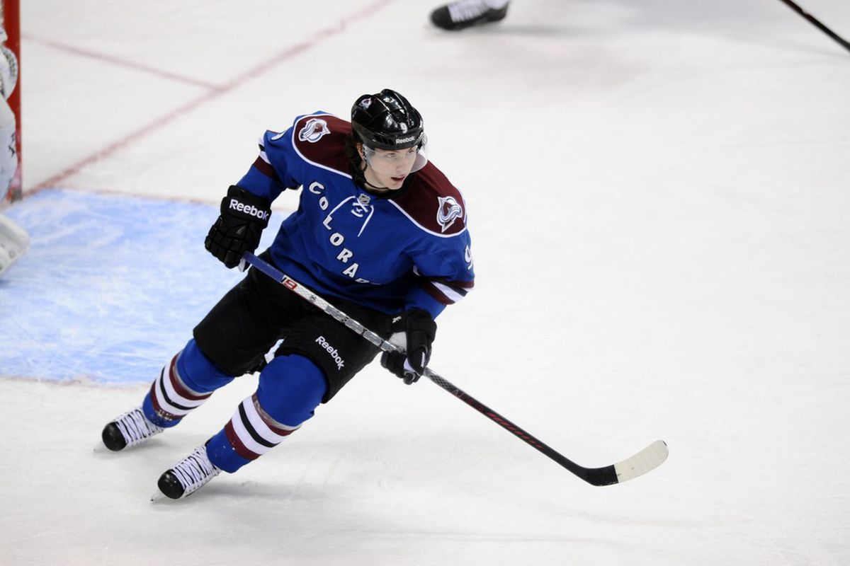 March 20 2012; Denver, CO, USA; If Matt Duchene doesn't need a jump, neither does c6hor8. Mandatory Credit: Ron Chenoy-US PRESSWIRE