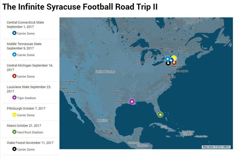 The infinite Syracuse football road trip diary Central