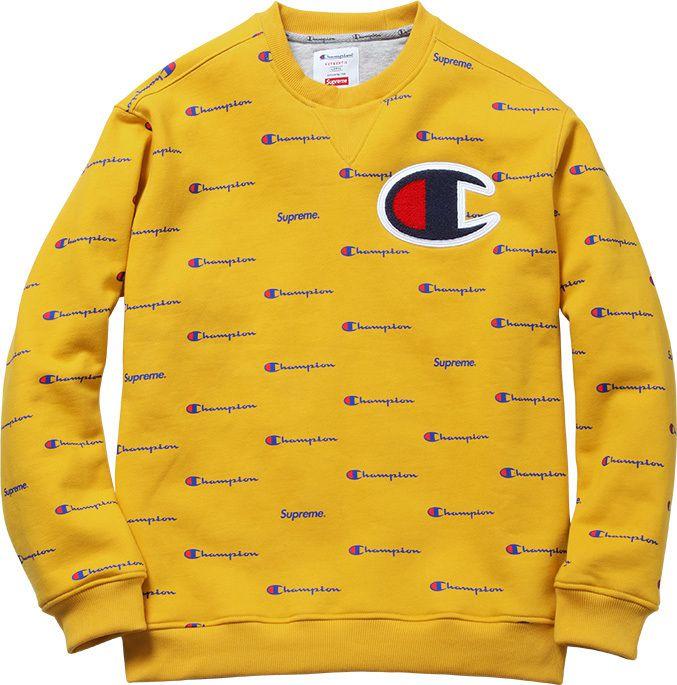 Champion all-over logo sweatshirt made for Supreme