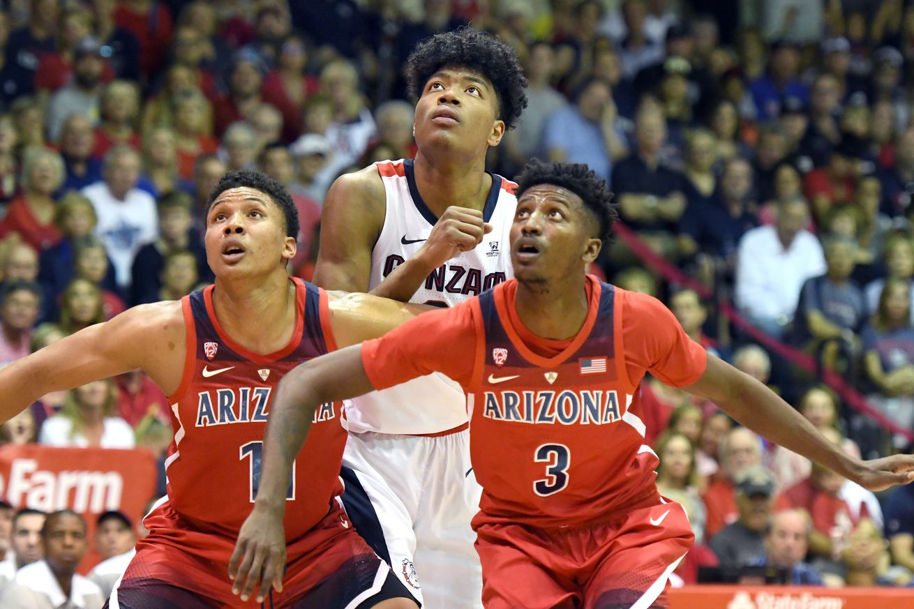 Arizona listed as small favorite for clash with Gonzaga
