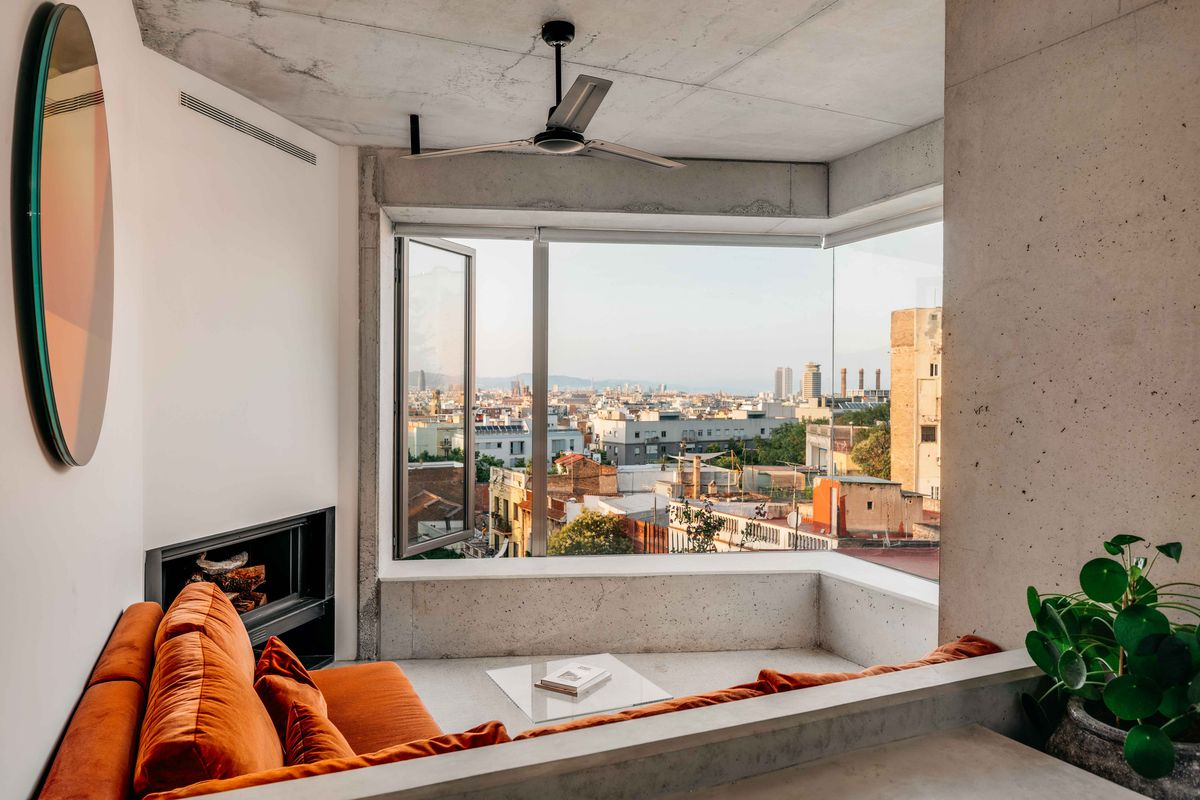 View of Barcelona from living room
