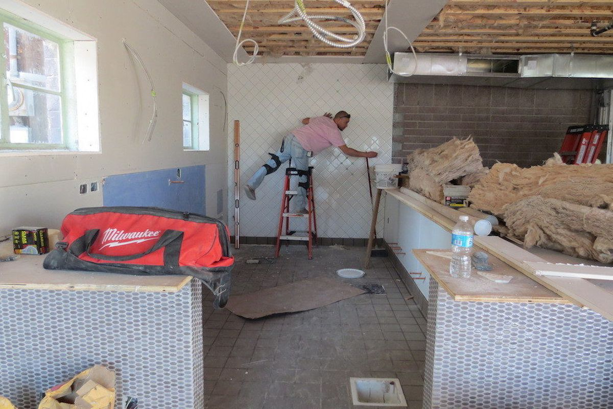 This will be the bar area at Carson Kitchen.