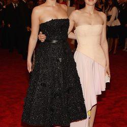 Jennifer Lawrence and Marion Cotillard, both in Dior