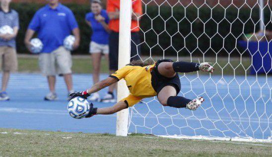 Aline Reis' PK save vs. North Carolina in 2011 (Photo: UCF Athletics)