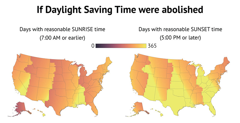 Daylight Saving Time Has Ended It Really Should Go On Forever Vox - Us daylight savings map