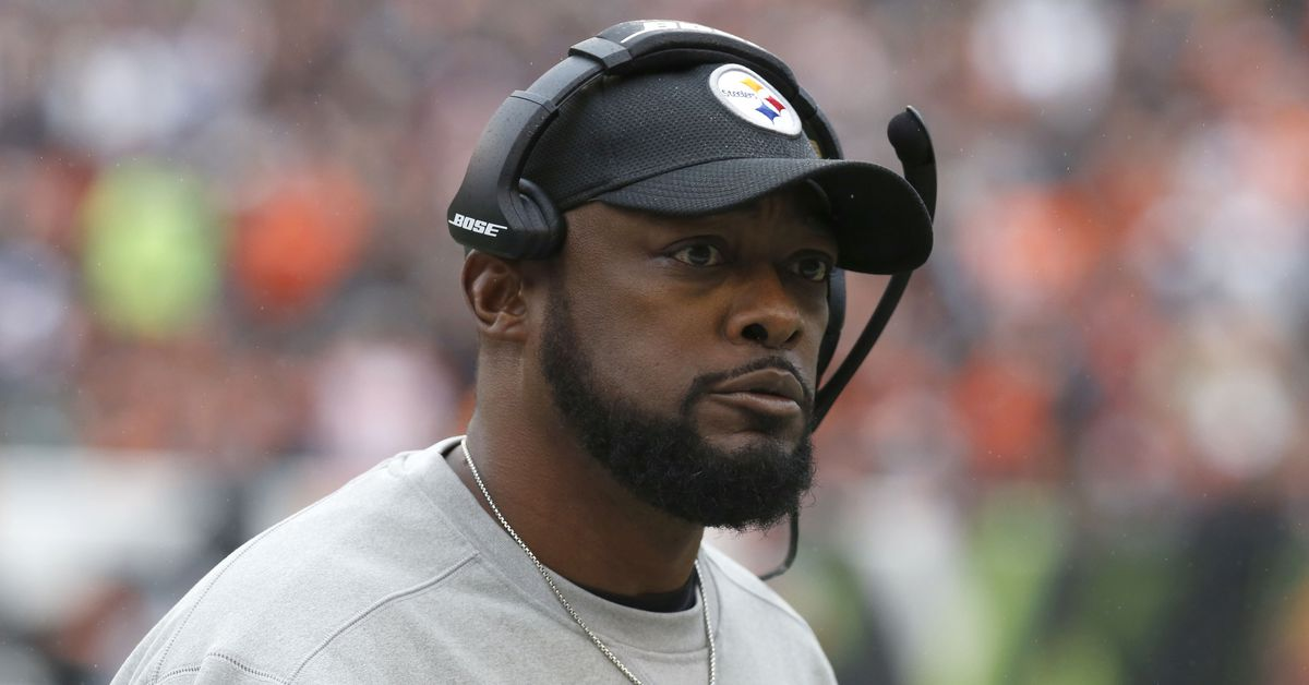 Mike Tomlin is having some trouble with his replay ...