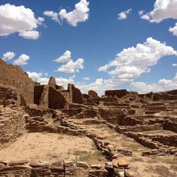 This August 2012 photo shows Pueblo Bonito, Chaco Canyon, in northwestern New Mexico. Chaco Canyon, the center of a culture that flourished from the 800s to the 1100s, is run by the National Park Service and is accessible only via dirt road.