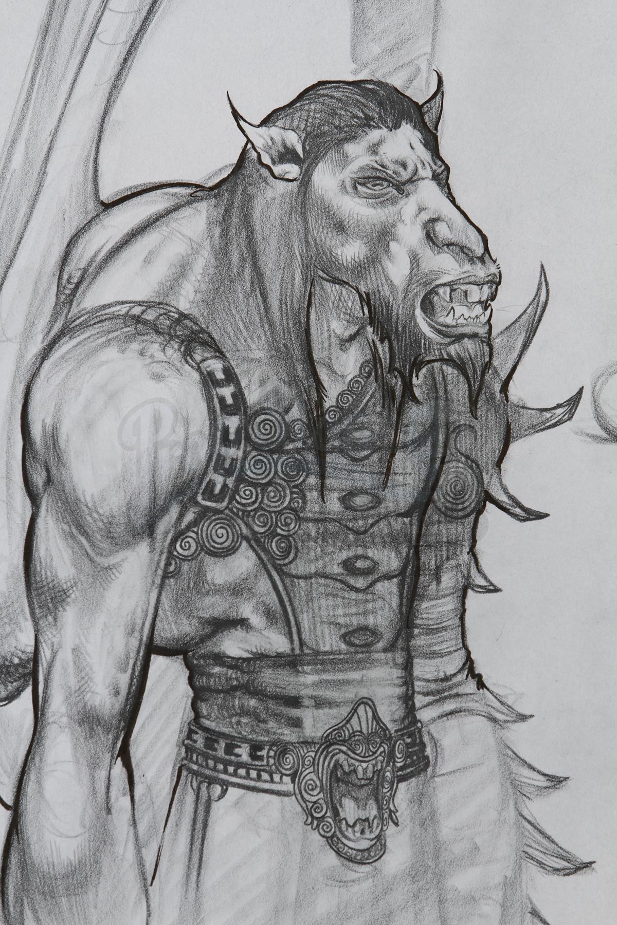 A horse-like version of Goliath the gargoyle