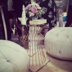 """The artsy folks at <a href=""""http://www.craftingcommunity.com/"""">Crafting Community</a> decked out the Unique Space with top-notch vintage-meets-modern decor."""