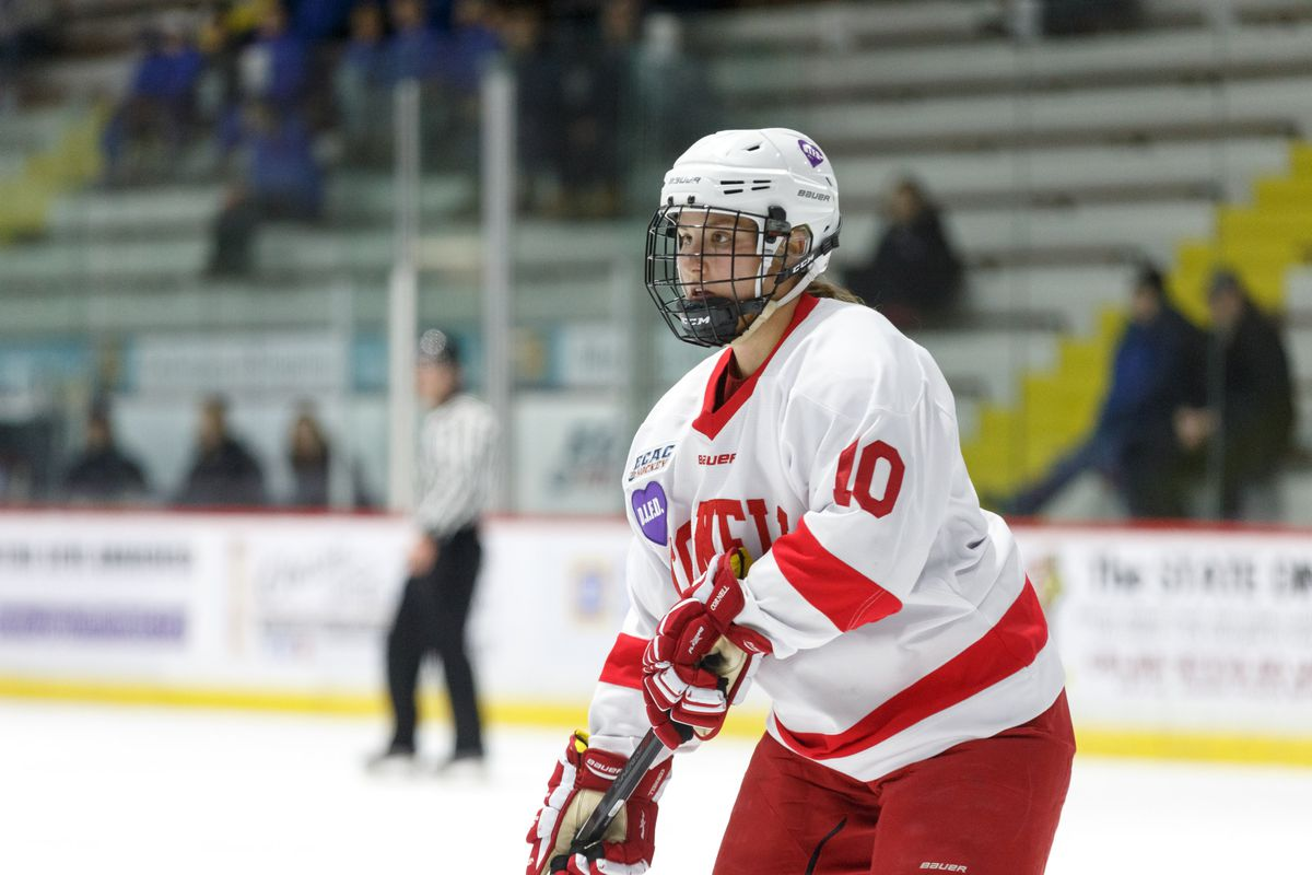Cornell Big Red forward #10 Brianna Veerman
