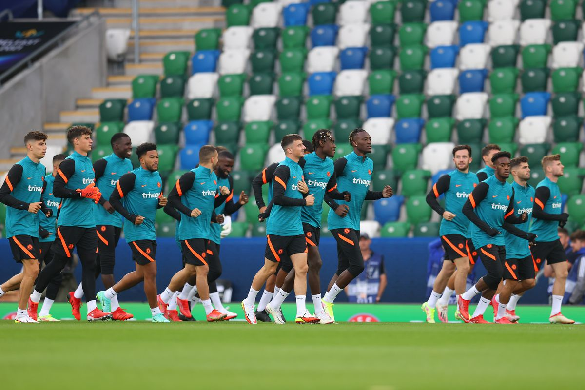 Chelsea FC Training Session And Press Conference – UEFA Super Cup 2021