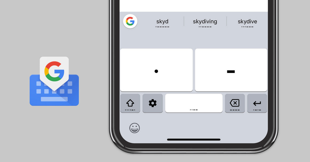 Google's Gboard keyboard now lets you communicate through Morse code on both Android and iOS