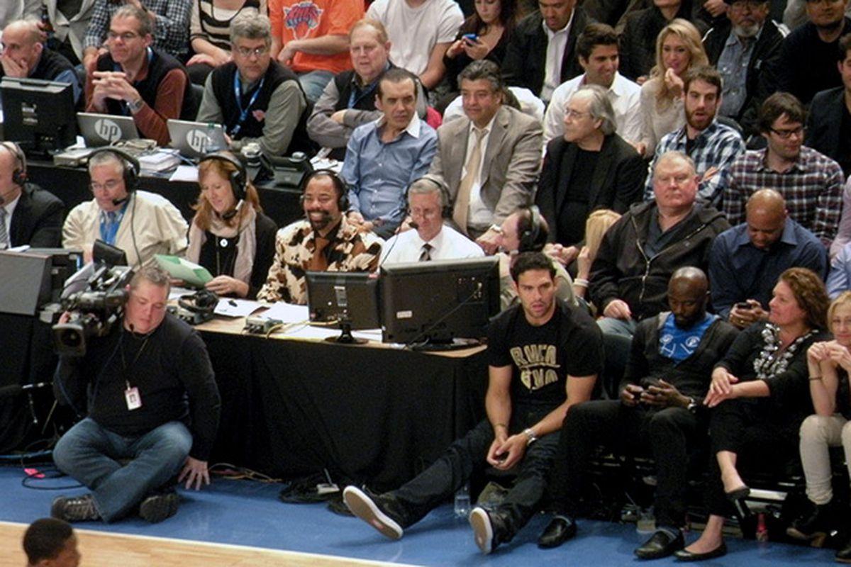 NBA courtside (Flickr: Matthew Britt)