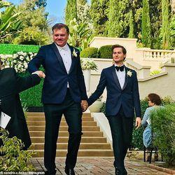 Former Dallas Cowboys linebacker Jeff Rohrer married Joshua Ross at the Wattles Mansion in Hollywood Hillsin Los Angeles on November 18, 2018.