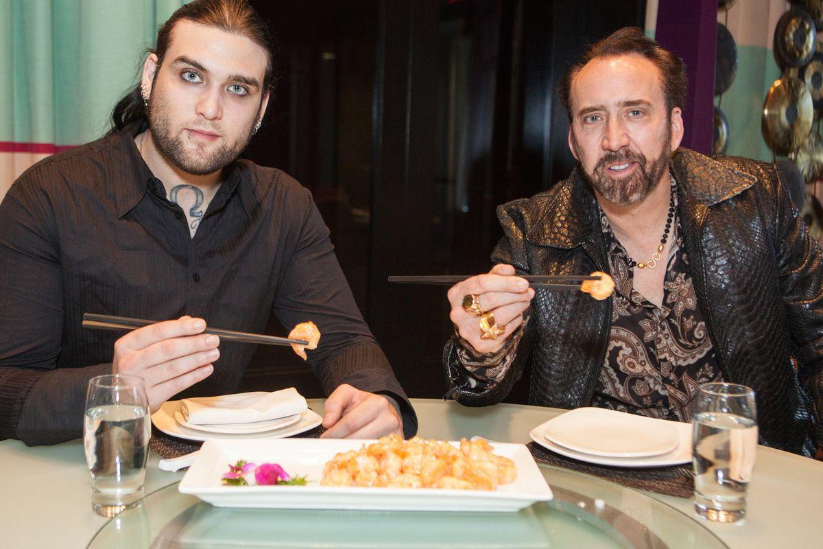 Weston and Nicolas Cage at Lao Sze Chuan