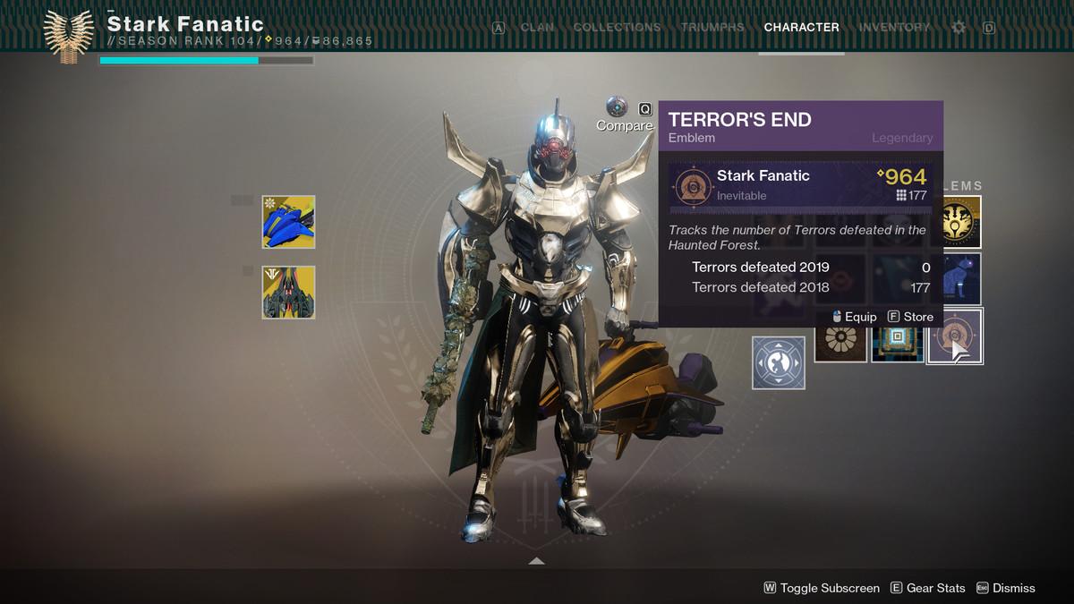 Terror's End emblem Destiny 2