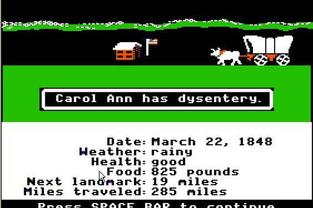The Oregon Trail dysentery