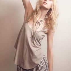 """<i><a href=""""http://www.shopsheboutique.com/product.asp?lt=d&deptid=6358&pfid=SBT03049&source=shopstyle/"""" rel=""""nofollow"""">Wish Leather Tank in Chalk</a></i>, $288 (preorder)"""