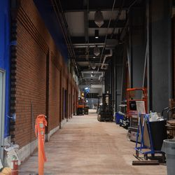 10:15 p.m. The left-field ground level concourse/walkway (not yet open) -