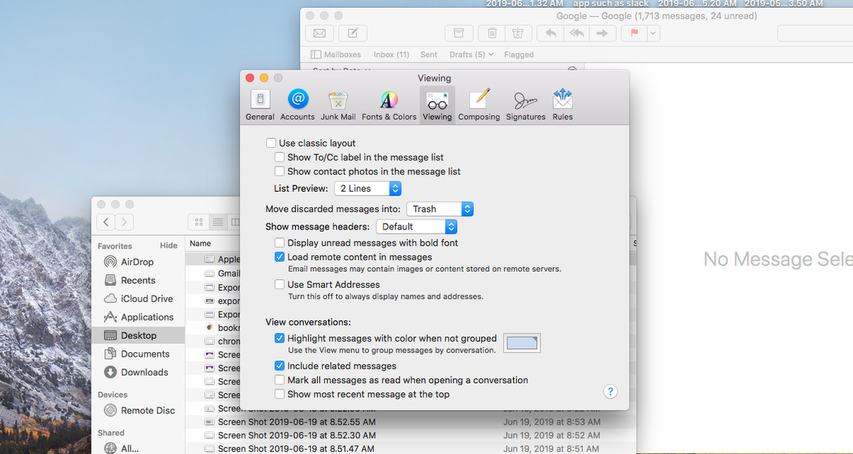 Disable image autoloading in Apple Mail: