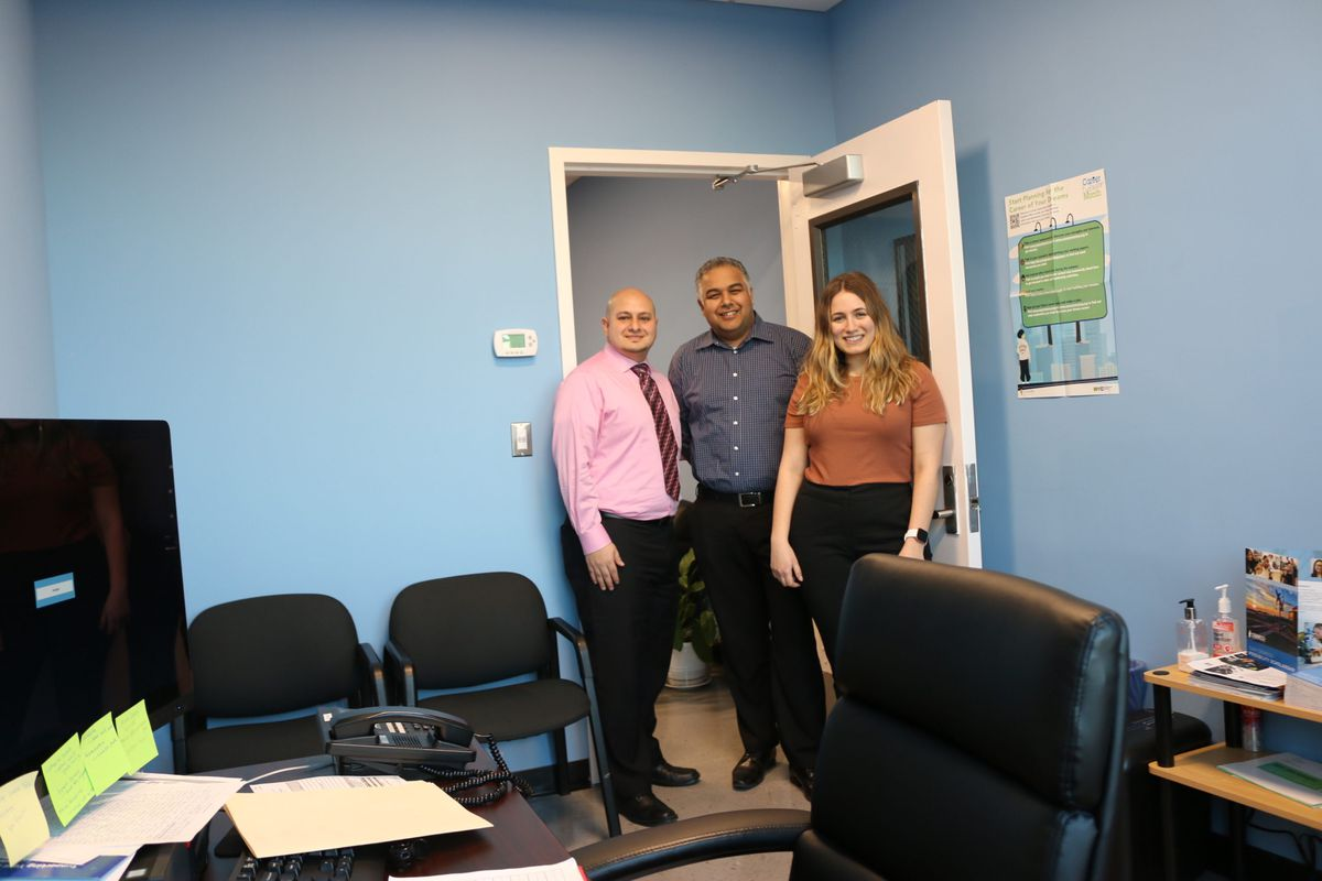 York Early College Academy received donations to build a suite of offices for its counselors, finally giving them private space to meet with students.