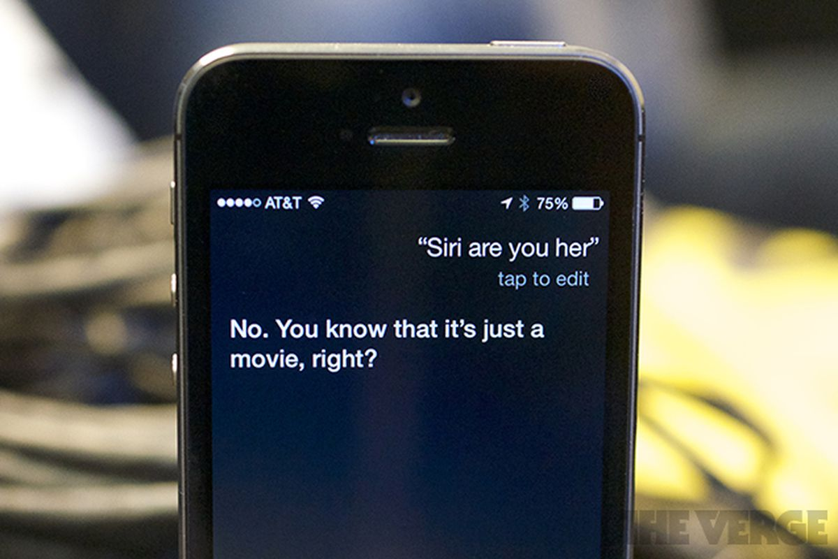 Siri snarky about Samantha from Her