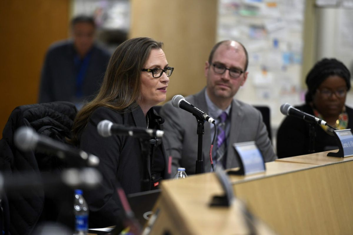 Carrie Olson was elected president of the Denver school board on Dec. 4, 2019.